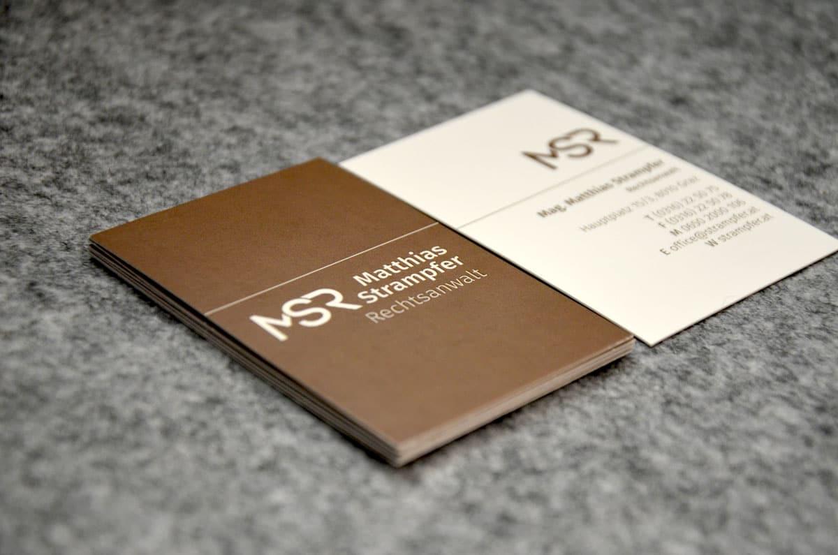 Rechtsanwalt Matthias Strampfer Visitenkarten