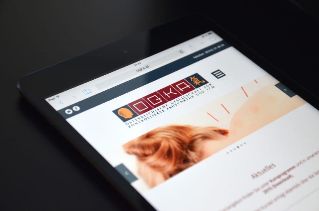 Website der OGKA Österreichische Gesellschaft für Kontrollierte Akupunktur