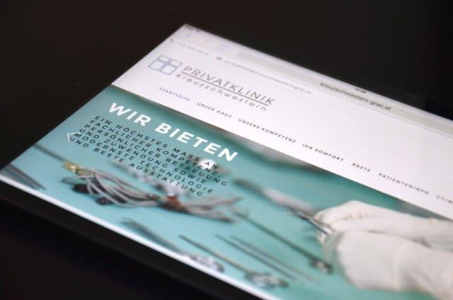 Bild von der Website Privatklinik der Kreuzschwestern in Graz