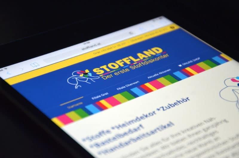 Website Stoffland - Der erste Stoffdiskonter