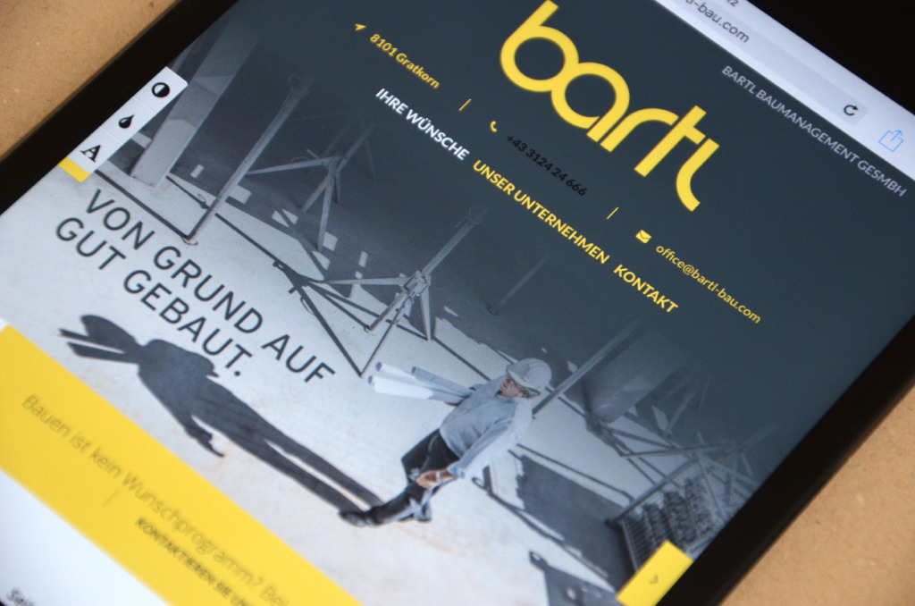 Webdesign by Agenturmorre - Bartl Bau