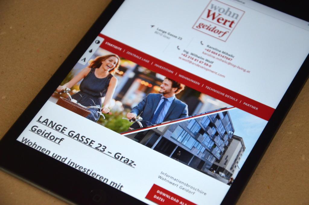 Webdesign by Agenturmorre - Wohnwert Geidorf
