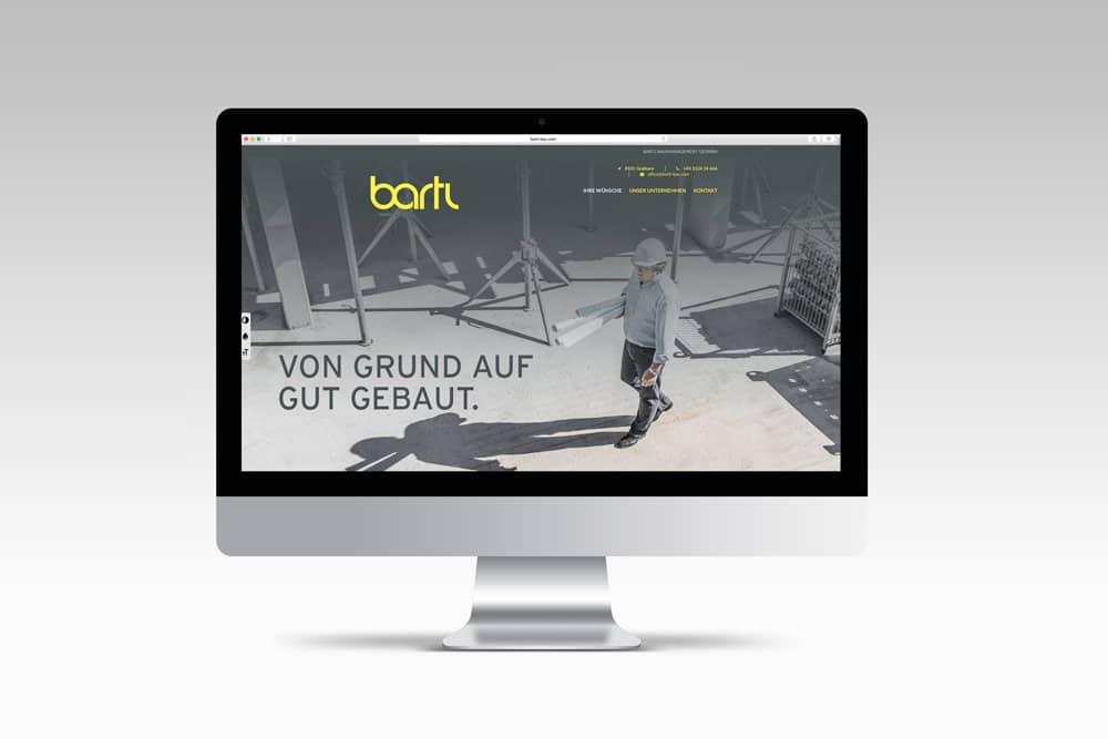 Bartl Bau Website Werbeagentur Morre Graz
