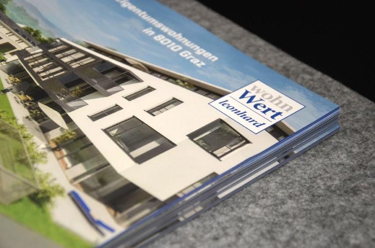 Wohnwert Leonhard Print Design Werbeagentur Morre Graz