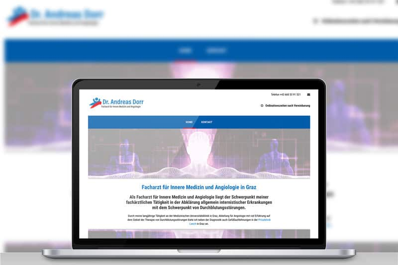 Dr. Andreas Dorr Website Werbeagentur Morre Graz