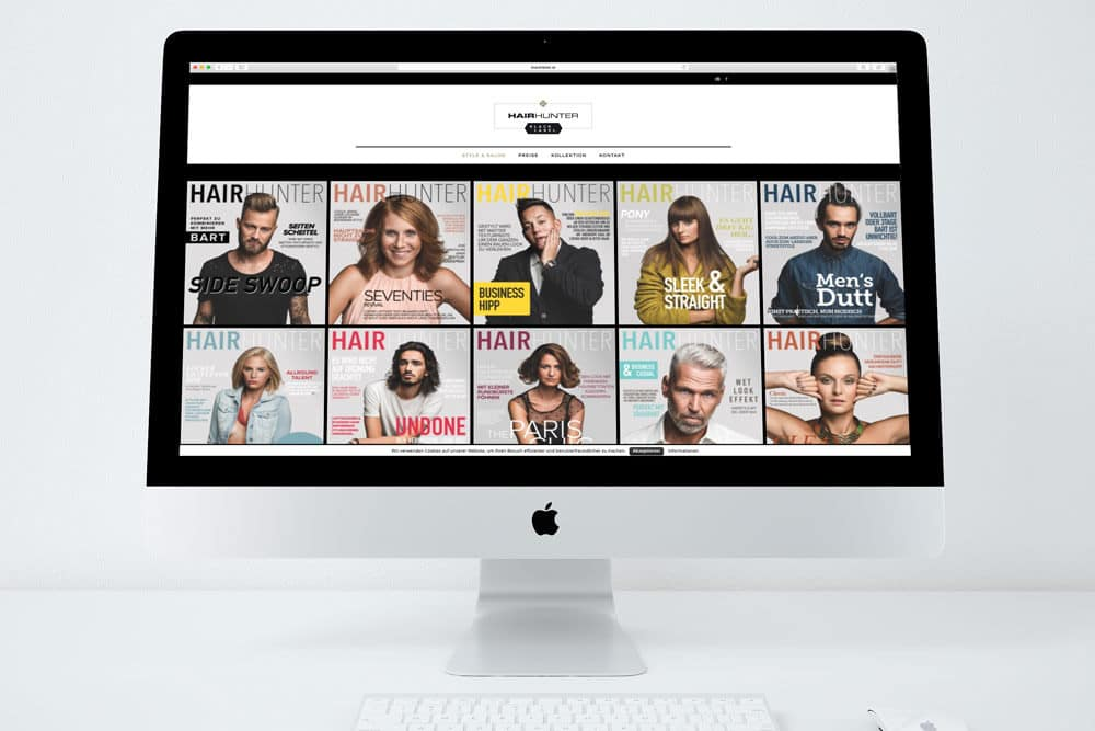 Hairhunter Blacklabel Webdesign by Werbeagentur Morre