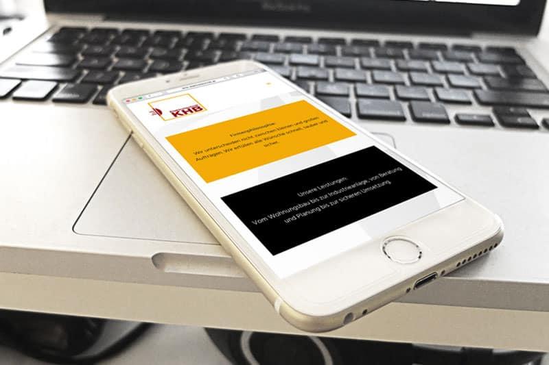 KHB Elektrotechnik mobile Ansicht