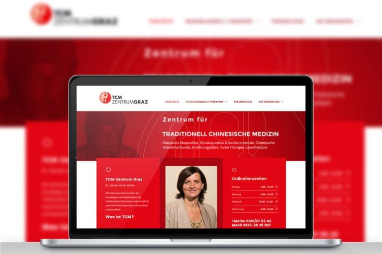 TCM-Zentrum Website Beitragsbild Werbeagentur Graz