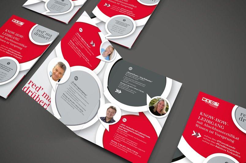 Folderdesign Wirtschaftskammer by Werbeagentur Graz