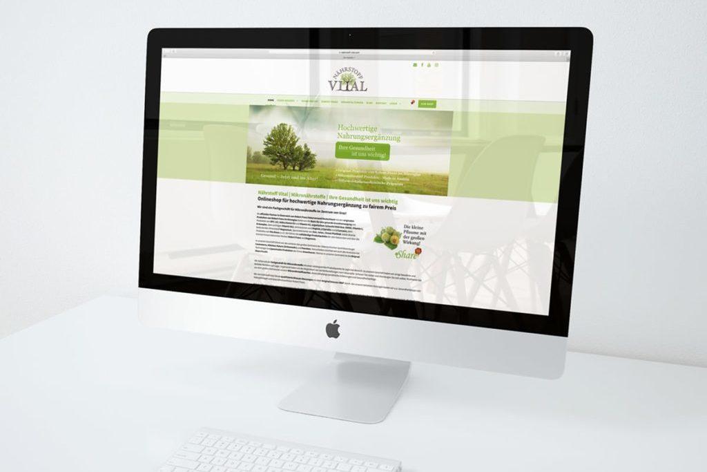 Onlineshop Nährstoff Vital by Werbeagentur Morre