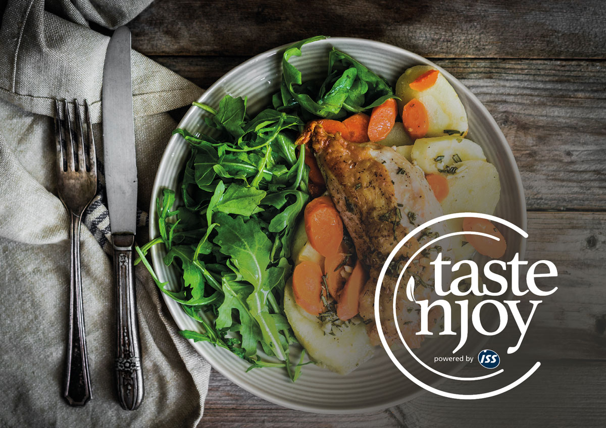 Logo Taste'njoy powered by ISS by Werbeagentur Morre