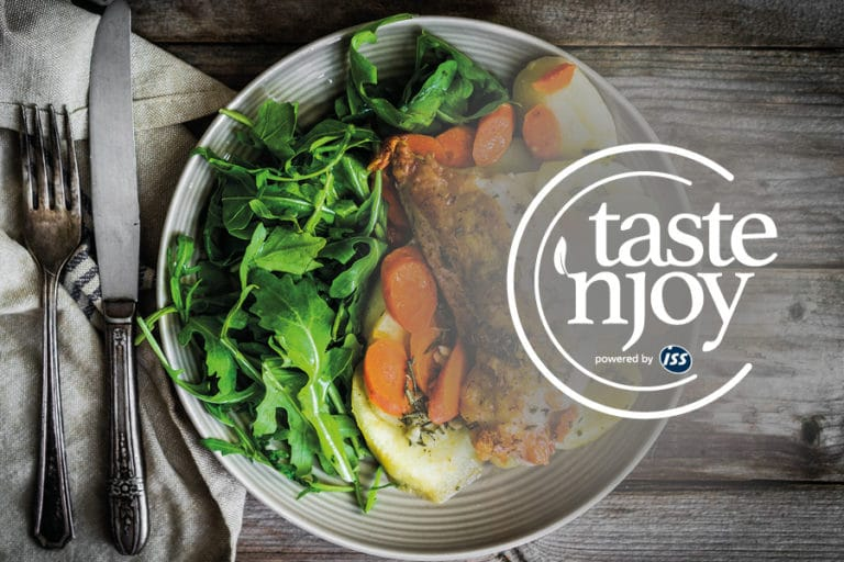 Logo Taste'njoy powered by ISS by Werbeagentur Morre