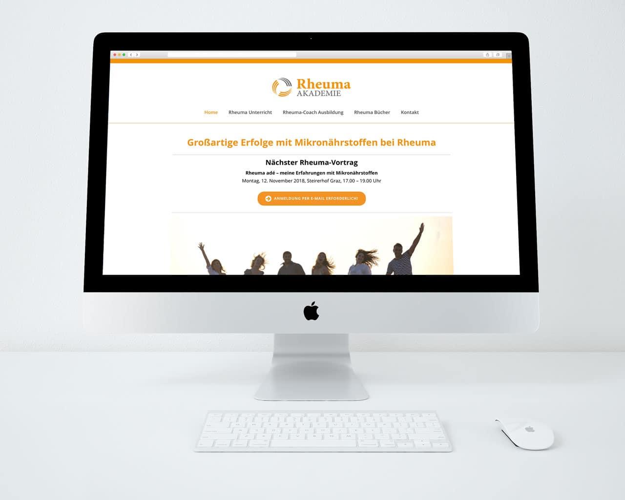 responsive Webdesign Website Rheuma Akademie