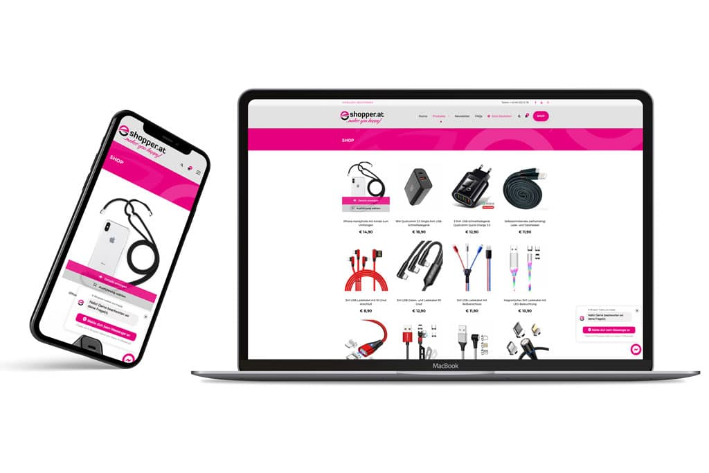 E-Shopper Onlineshop Werbeagentur Morre